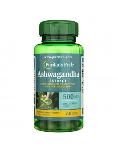 Puritan's Pride Ashwagandha Standardized Extract 500 mg - 60 capsules